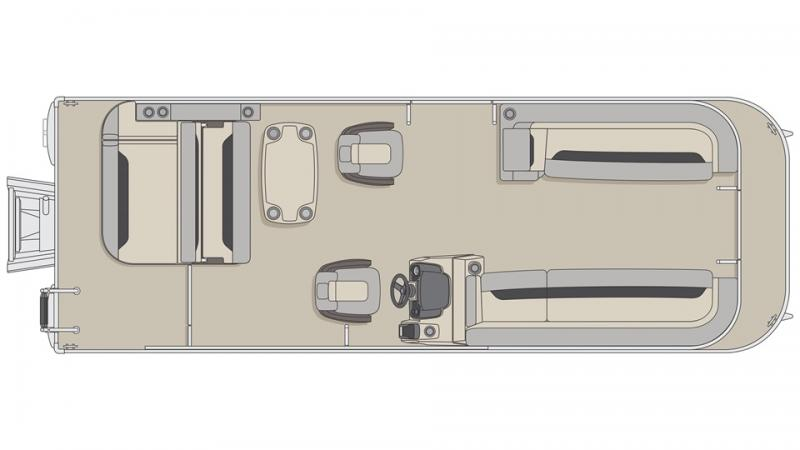 2022 Princecraft Vectra 25 RL Sport Pontoon Boat with 150HP Mercury
