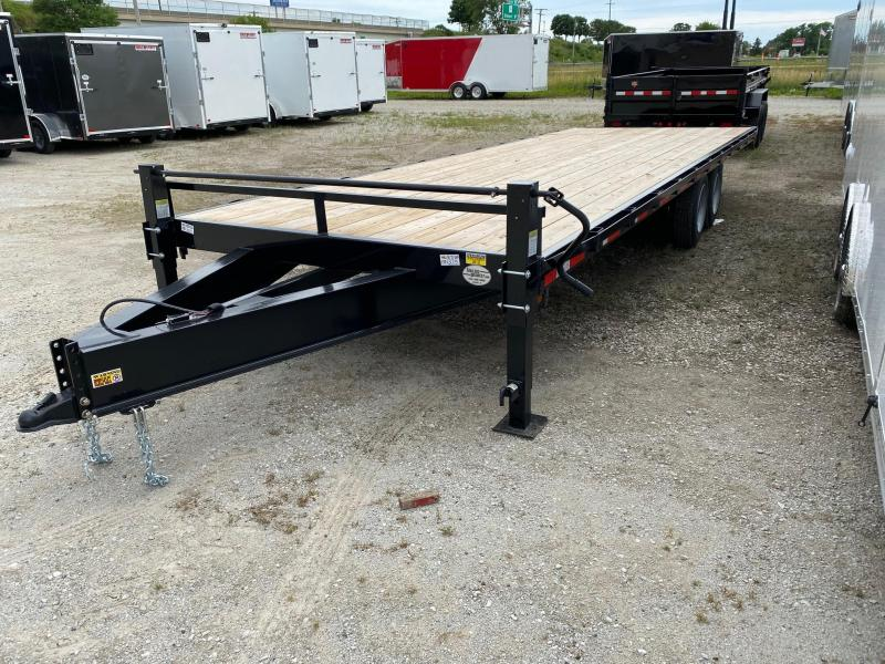 "2022 Quality Steel 102""x24'14K Flatbed Deckover Trailer $9500"