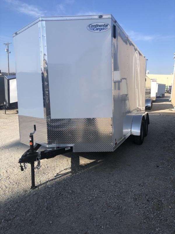 2020 Continental V-Series 7X14 7K GVWR Enclosed Cargo Trailer $4600