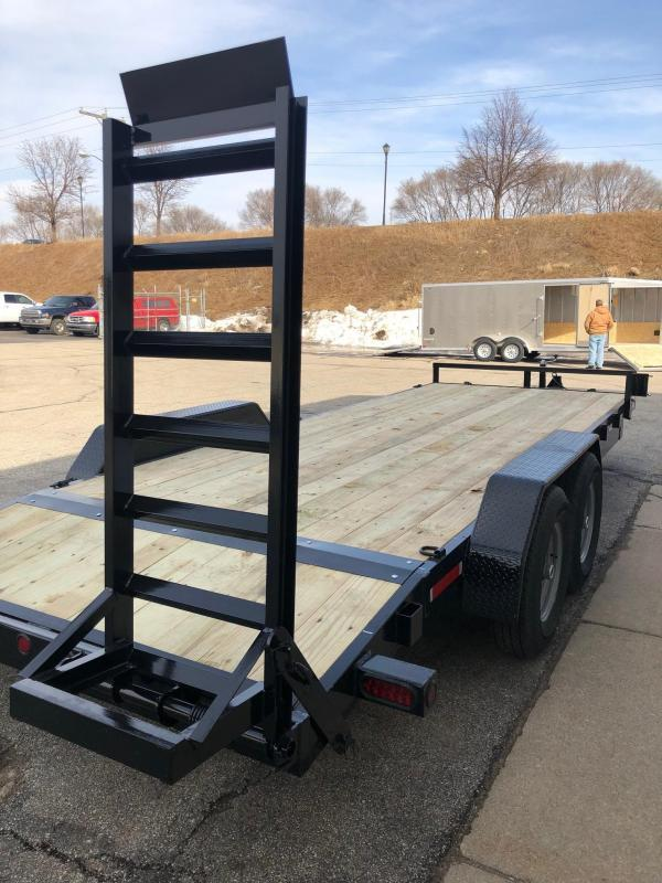 2021 Quality Steel 83 X20 10K GVWR Open Car Hauler 4255