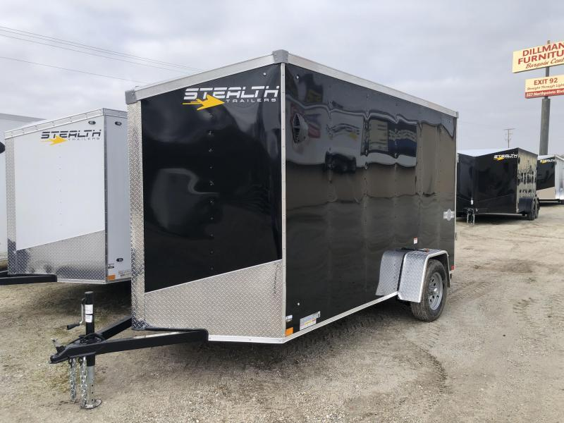 2021 Stealth Mustang 6X12 Single Axle Enclosed Trailer $3200