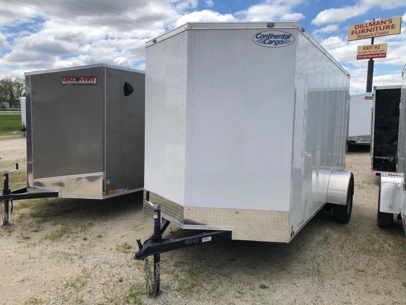 2020 Continental Cargo V-Series 6X12 Single Axle Cargo Trailer $3000