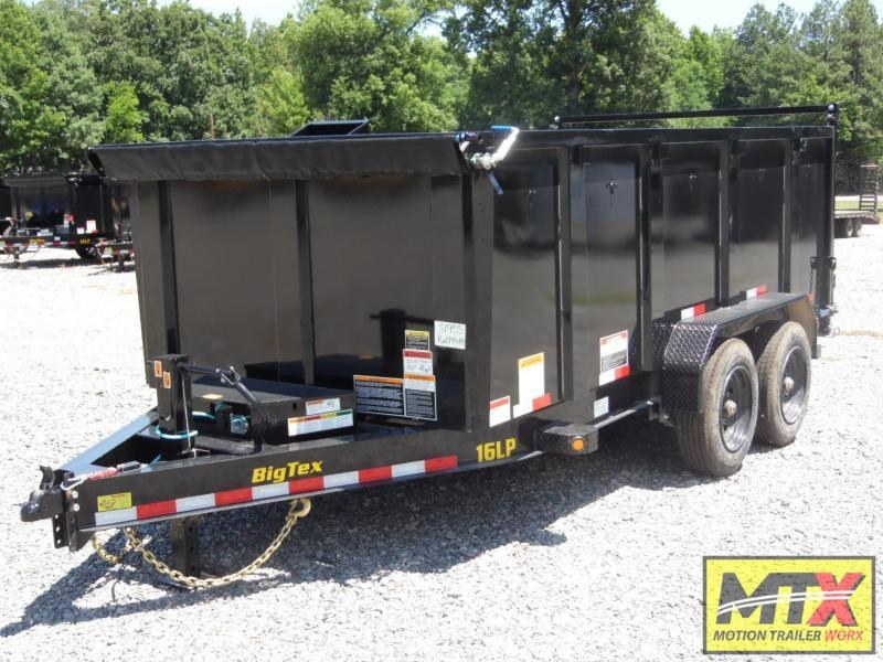 2022 Big Tex 7x14 16LP Low Pro 17500K Dump w/ 4' Sides & Slide-In Ramps
