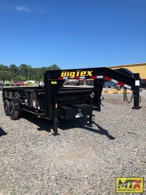2021 Big Tex 7x14 Gooseneck 14GX 14K Dump w/ Slide-In Ramps