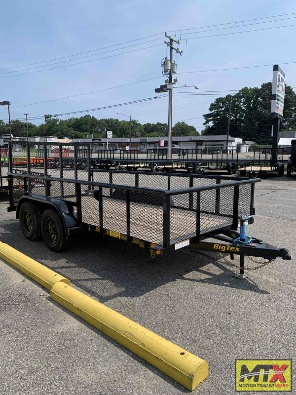 2021 Big Tex  14' 60PI w/ 2ft Expanded Sides & 4' Spring Assist Tailgate