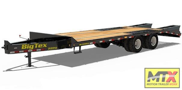 2021 Big Tex 20+5 22PH Over Deck Pintle w/ Mega Ramps