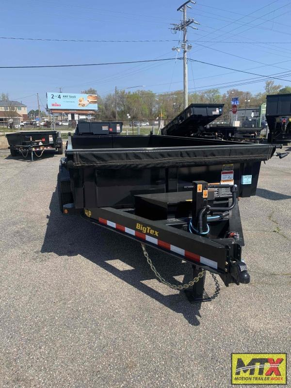 2021 Big Tex 7x16 14LP Low Pro 14K Dump w/ Slide-In Ramps