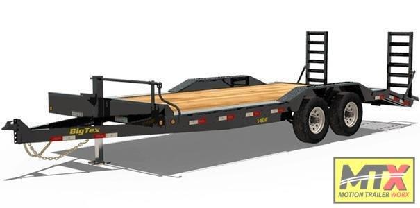 2020 Big Tex 20' 14DF 14K Equipment Trailer w/ Fold Up Ramps Equipment Trailer