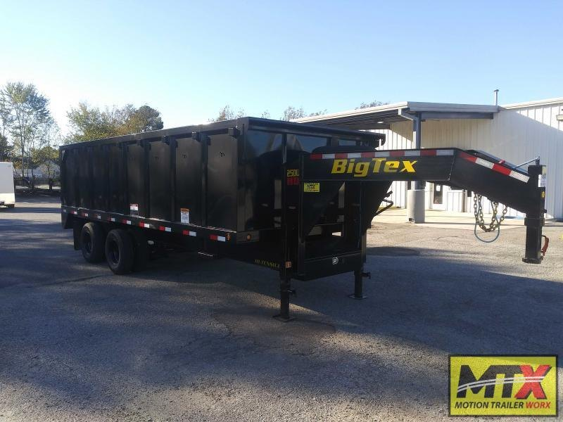 2021 Big Tex Trailers 8x20 25DU Dump w/ 12K Axles Ramps & Tarp