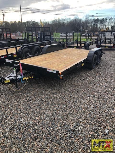 2021 Big Tex 20' 70CH 7K Car Trailer w/ Slide in Ramps