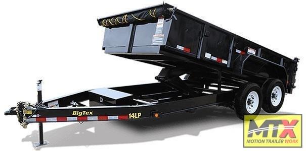 2021 Big Tex 7x14 Low Pro 14K Dump w/ Slide-In Ramps