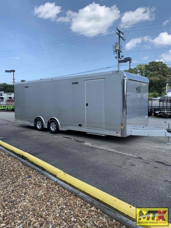 2022 ATC Quest Limited 8.5x24 10K Car Trailer w/ Interior Cabinets & Premium Escape Door
