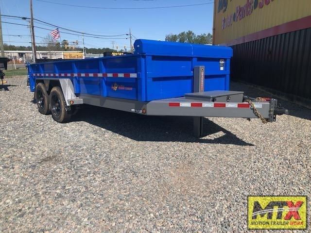 2021 B-Wise 7x16 DLP16-17 Low Pro Dump w/ 17600 GVWR