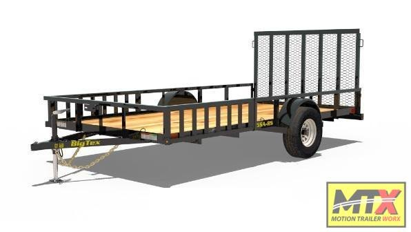 2021 Big Tex 7x12 RSX ATV Trailer w/ Side Ramps & 4' Spring Gate