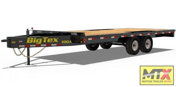 2021 Big Tex Trailers 20' 10OA 10K Flat Bed Trailer w/ Slide out Ramps