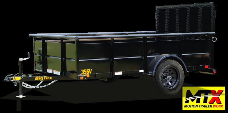2022 Big Tex 6x10 35SV w/ Solid Sides & 4' Spring Assist Gate