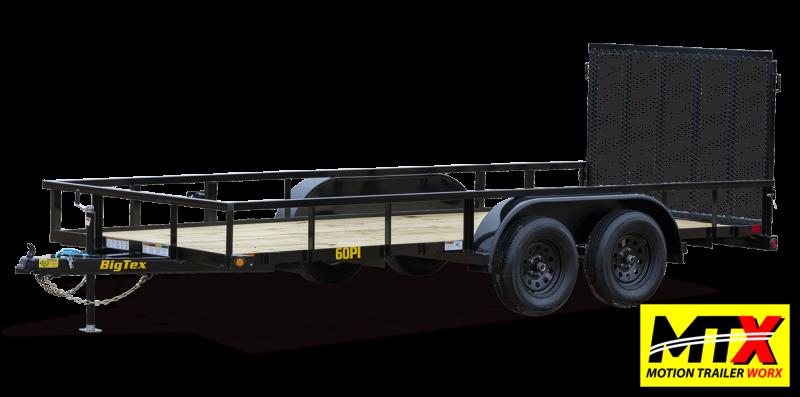 2022 Big Tex  16' 60PI w/ 4' Spring Assist Tailgate