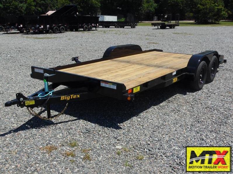2021 Big Tex 18' 70CH 7K Car Trailer w/ Dovetail & Slide in Ramps