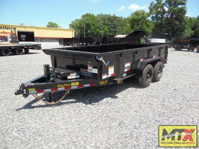 2021 Big Tex 7x14 16LP Low Pro 17500K Dump w/ Slide-In Ramps