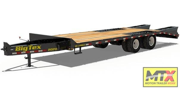 2020 Big Tex 20+5 20PH Over Deck Pintle w/ Fold Up Ramps Equipment Trailer