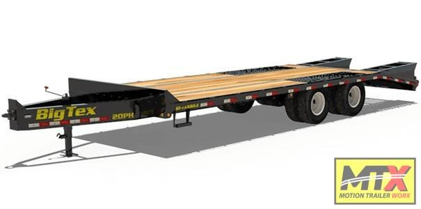 2020 Big Tex 20+5 20PH Over Deck Pintle w/ Fold Up Ramps