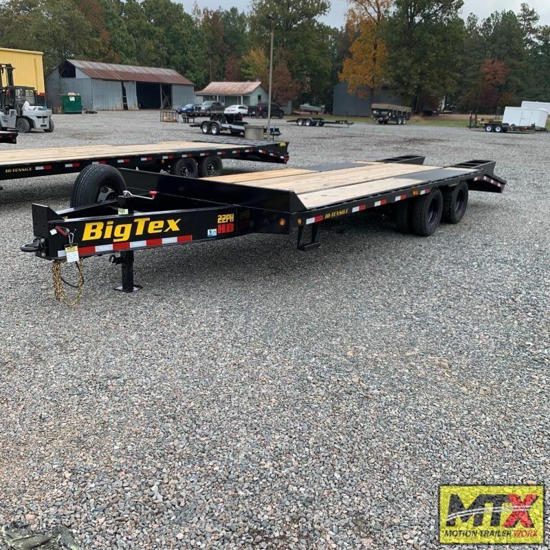 2021 Big Tex 20+5 22PH Over Deck Pintle w/ Flip Over Ramps