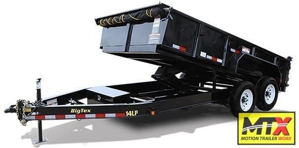 2021 Big Tex 7x16 LP Low Pro 14K Dump w/ Slide-In Ramps