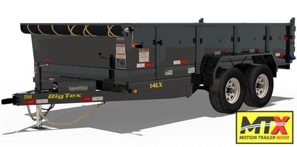 2020 Big Tex 7x14 LX 14K Dump w/ Slide-In Ramps