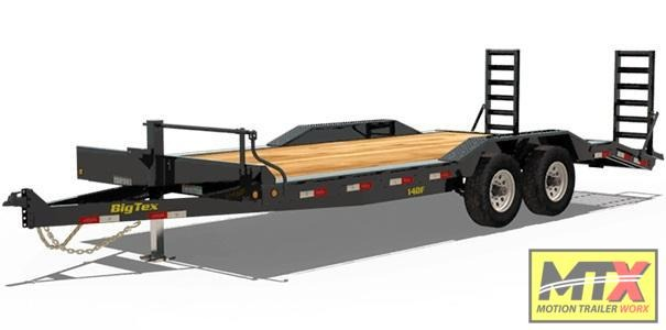 2020 Big Tex 22' 14DF 14K Equipment Trailer w/ Fold Up Ramps Equipment Trailer