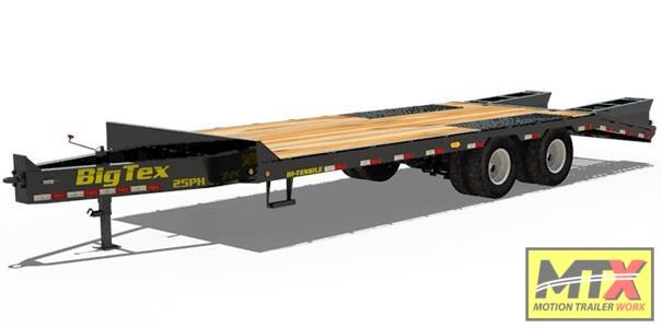 2021 Big Tex Trailers 25PH-25+5 Over Deck Pintle w/ Mega Ramps