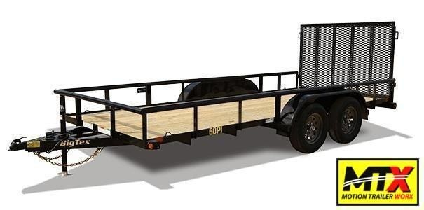 2021 Big Tex  16' 60PI w/ 4' Spring Assist Tailgate