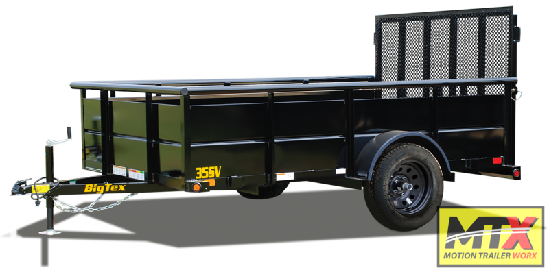 2021 Big Tex 6x12 35SV w/ Solid Sides & 4' Spring Assist Gate