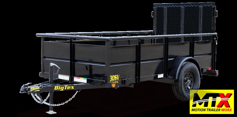 "2022 Big Tex 5x10 30SV w/ 24"" Solid Sides & 4' Spring Assist Gate"