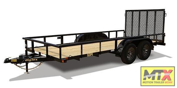 2021 Big Tex  12' 60PI w/ 4' Spring Assist Tailgate