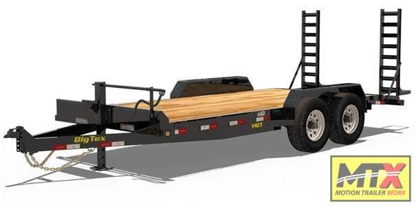 2021 Big Tex 18' 14ET 14K Equipment Trailer w/ Fold Up Ramps
