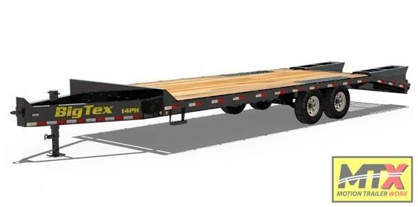 2021 Big Tex 20+5 14PH Over Deck Pintle w/ Flip Over Ramps