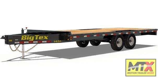 2021 Big Tex 20' 14OA 14K Flat Bed Trailer w/ Slide In Ramps