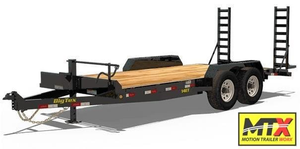 2020 Big Tex 16' 14ET 14K Equipment Trailer w/ Fold Up Ramps