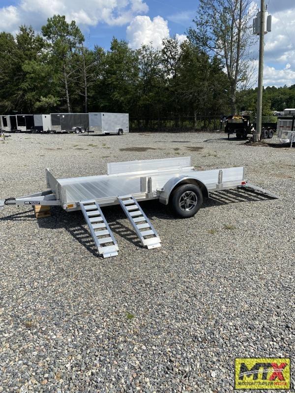 "2022 Mission 7x12 Aluminum Trailer w/ Side Ramps, 10"" Solid Sides & Bi-Fold Gate"