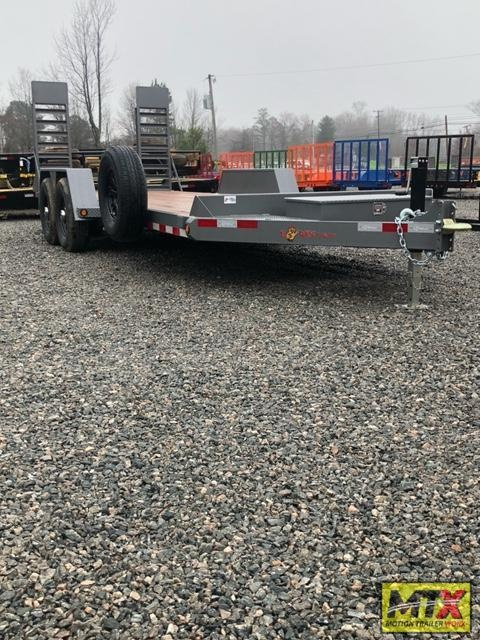 2021 B-Wise 20' EC20-15 15400 GVWR w/ Fold Up Ramps Equipment Trailer