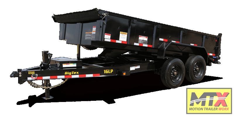 2021 Big Tex 7x16 16LP Low Pro 17500K Dump w/ Slide-In Ramps
