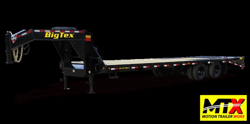 2021 Big Tex 30+5 22GN Gooseneck w/ Flip Over Ramps 23900 GVWR
