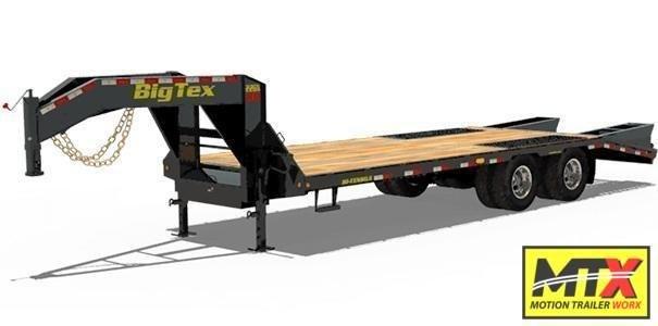 2021 Big Tex 25+5 22GN Gooseneck w/ Fold Up Ramps 23900 GVWR
