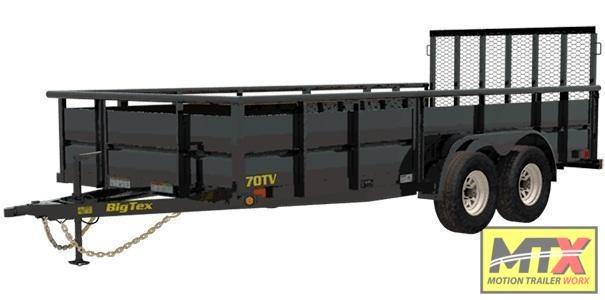 2022 Big Tex 16' 70TV w/' Solid Sides & 4' Gate