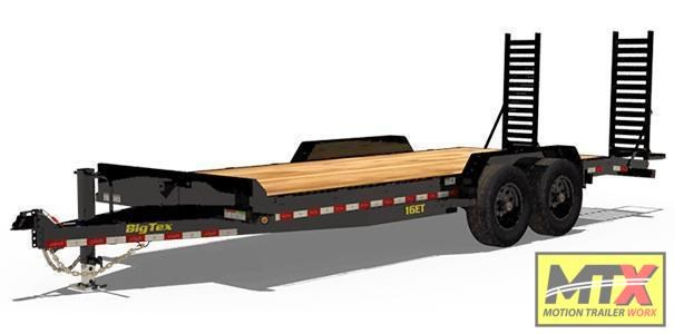 2021 Big Tex Trailers 20' 16ET 17.5K Equipment Trailer w/ Fold Up Ramps