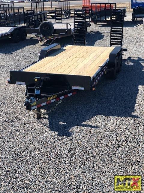 2022 Big Tex Trailers 20' 16ET 17.5K Equipment Trailer w/ Fold Up Ramps