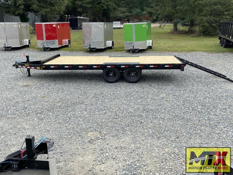 2022 Big Tex 20' 14OA 14K Flat Bed Trailer w/ Slide In Ramps