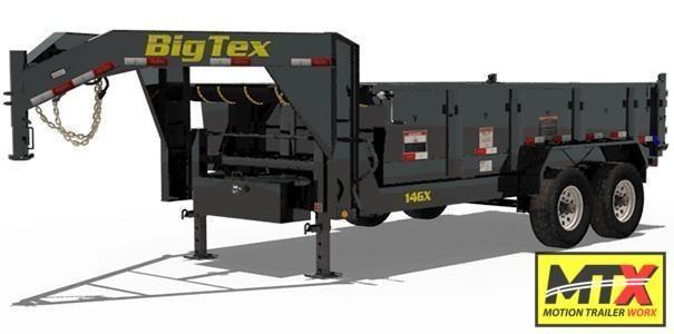 2022 Big Tex 7x14 14GX Gooseneck 15900K Dump w/ Slide-In Ramps