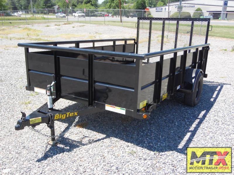 2022 Big Tex 6x12 35SV w/ Solid Sides & 4' Spring Assist Gate