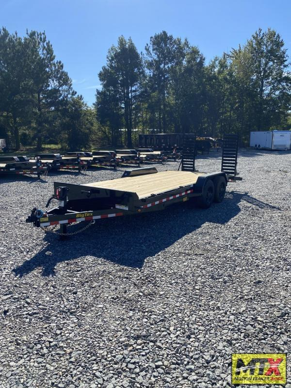 2022 Big Tex Trailers 21+3 16ET 17.5K Equipment Trailer w/ Fold Up Ramps